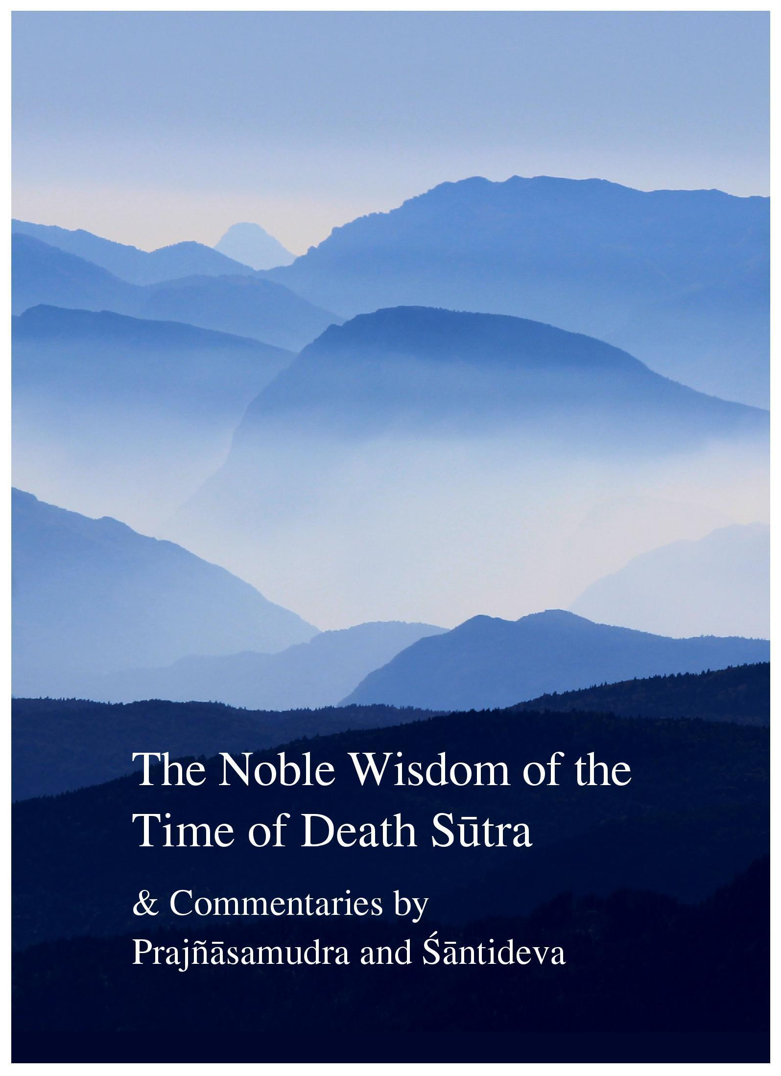 The Noble Wisdom Of Death Sutra Book Cover