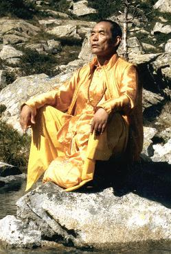 Nyoshul Khen Rinpoche On Rock